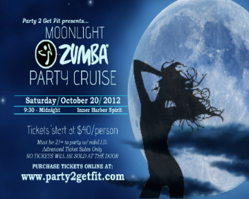 Moonlight zumba party cruise sat oct 20 2012 for Sideboard zumba